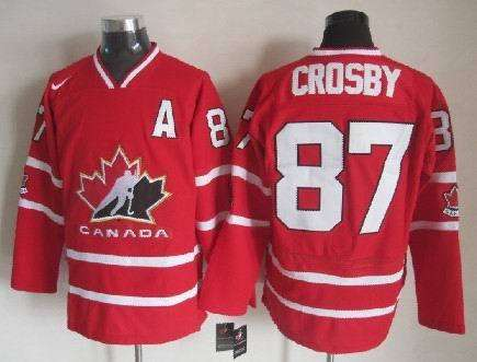 Canada 87 Crosby Red 2010 IIHF Jersey
