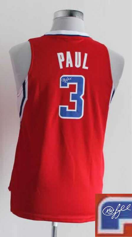 Clippers 3 Paul Red Signature Edition Women Jerseys