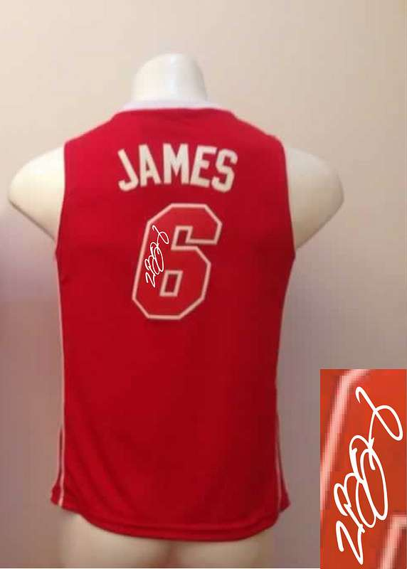 Heat 6 James Red New Signature Edition Women Jerseys