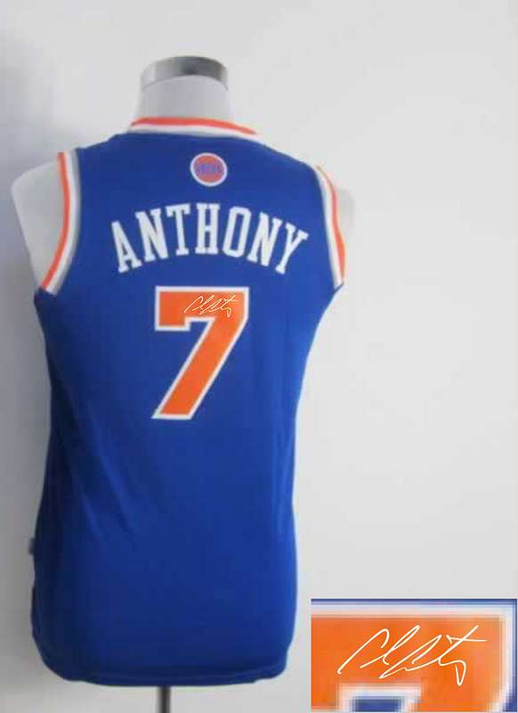 Knicks 7 Anthony Blue Signature Edition Women Jerseys