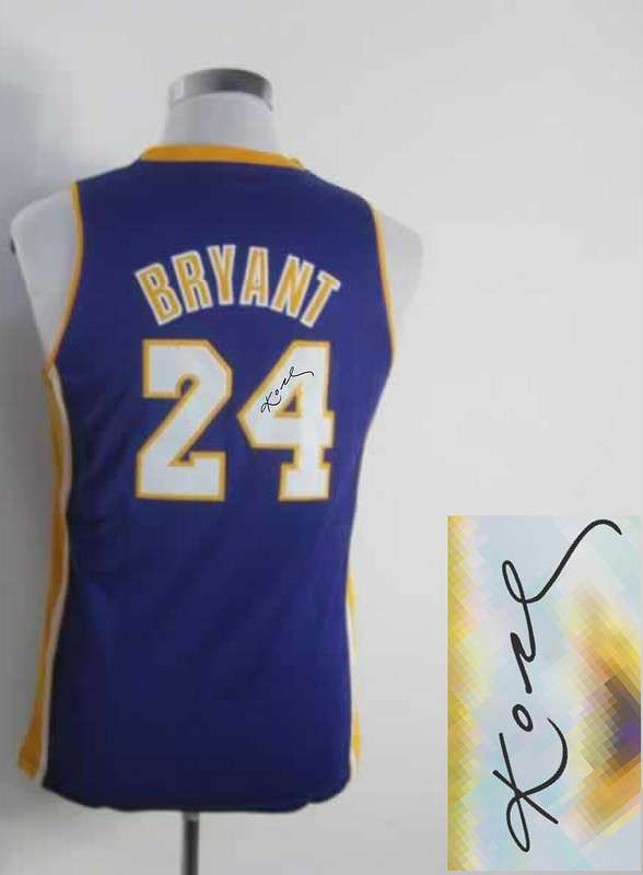 Lakers 24 Bryant Purple Signature Edition Women Jerseys