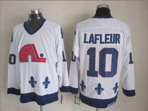 Nordiques 10 Lafleur White Jerseys