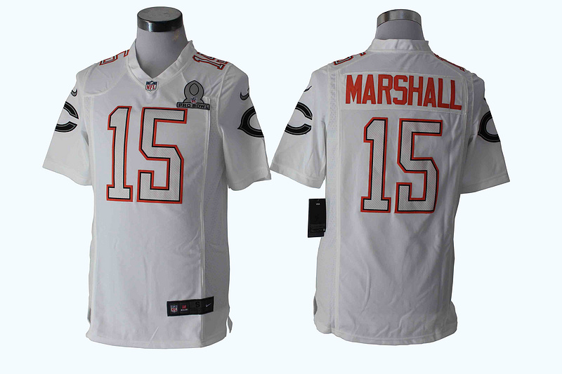 Nike Bears 15 Marshall White 2014 Pro Bowl Game Jerseys