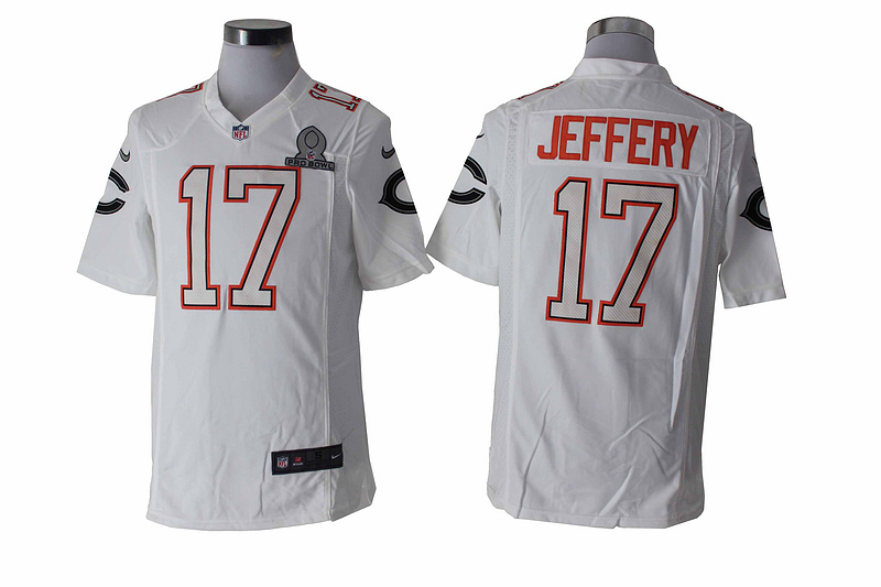 Nike Bears 17 Jeffery White White 2014 Pro Bowl Game Jerseys