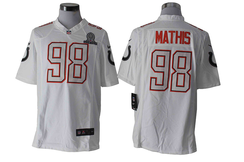 Nike Colts 98 Mathis White 2014 Pro Bowl Game Jerseys