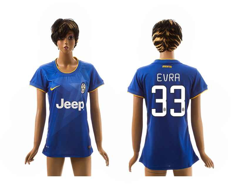 2014-15 Juventus 33 Evra Away Women Jerseys