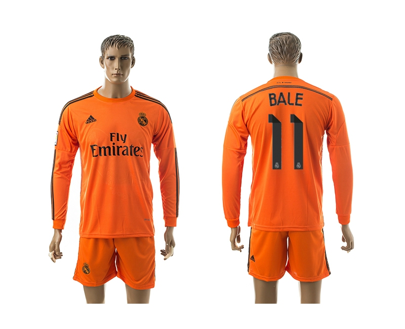 2014-15 Real Madrid 11 Bale Third Away Long Sleeve Jerseys