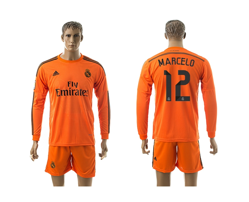 2014-15 Real Madrid 12 Marcelo Third Away Long Sleeve Jerseys