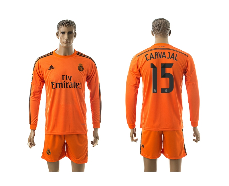 2014-15 Real Madrid 15 Carvajal Third Away Long Sleeve Jerseys