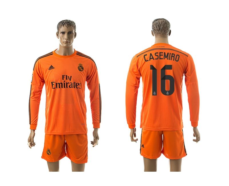 2014-15 Real Madrid 16 Casemiro Third Away Long Sleeve Jerseys