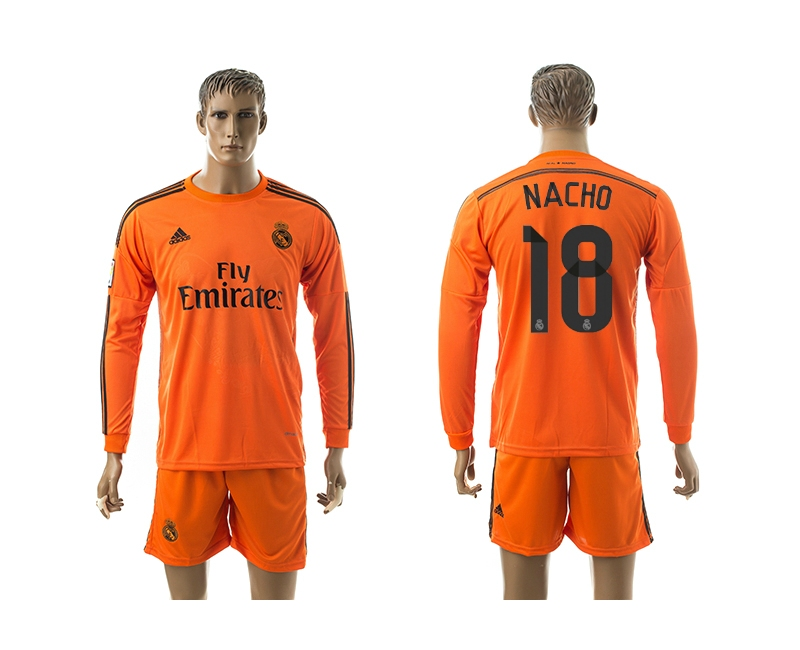 2014-15 Real Madrid 18 Nacho Third Away Long Sleeve Jerseys
