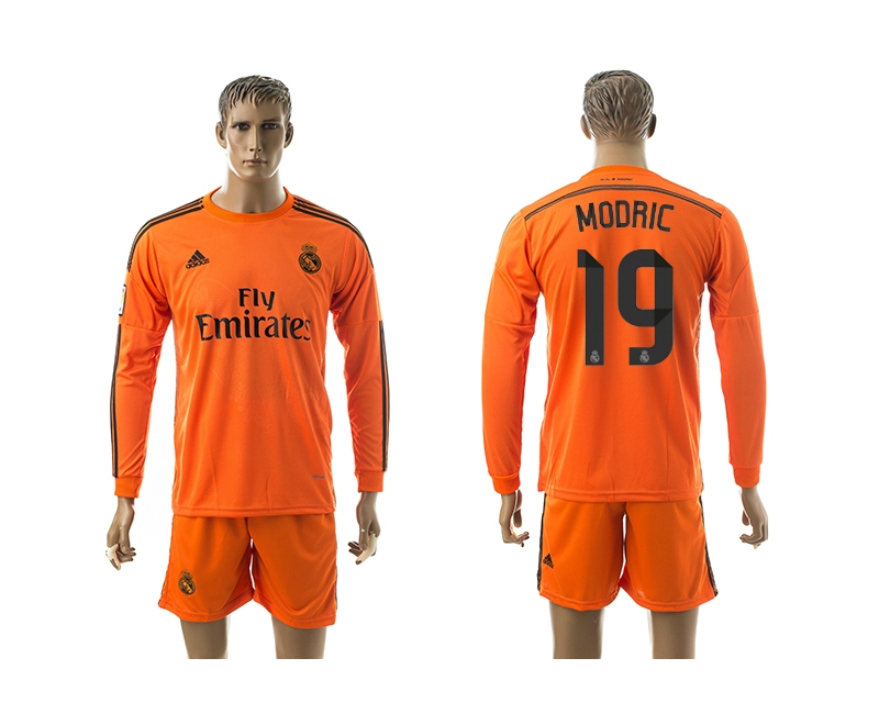 2014-15 Real Madrid 19 Modric Third Away Long Sleeve Jerseys