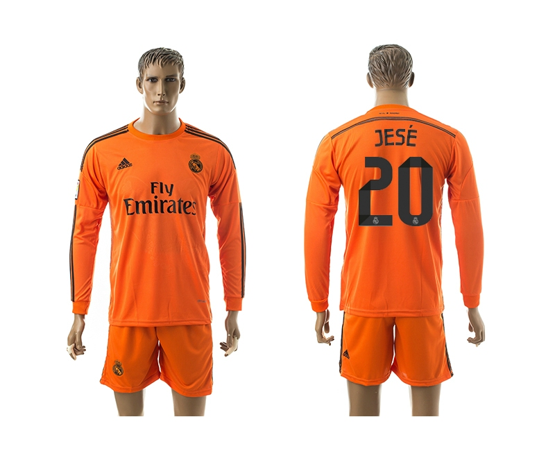 2014-15 Real Madrid 20 Jese Third Away Long Sleeve Jerseys