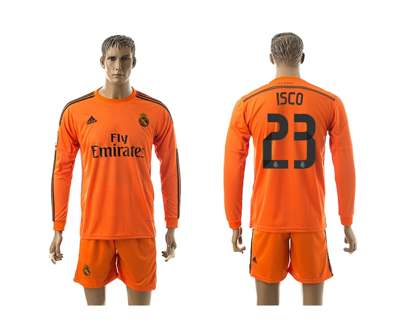 2014-15 Real Madrid 23 Isco Third Away Long Sleeve Jerseys