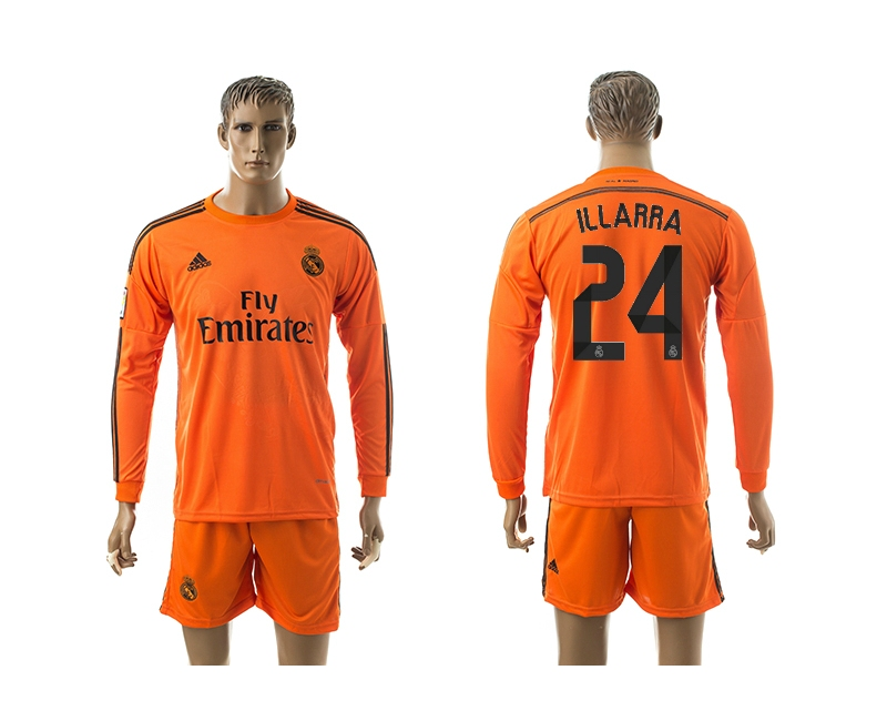 2014-15 Real Madrid 24 Illarra Third Away Long Sleeve Jerseys