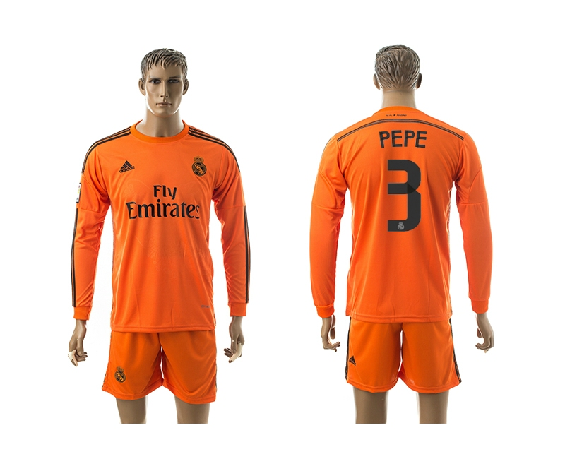 2014-15 Real Madrid 3 Pepe Third Away Long Sleeve Jerseys
