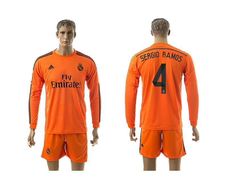 2014-15 Real Madrid 4 Sergio Ramos Third Away Long Sleeve Jerseys