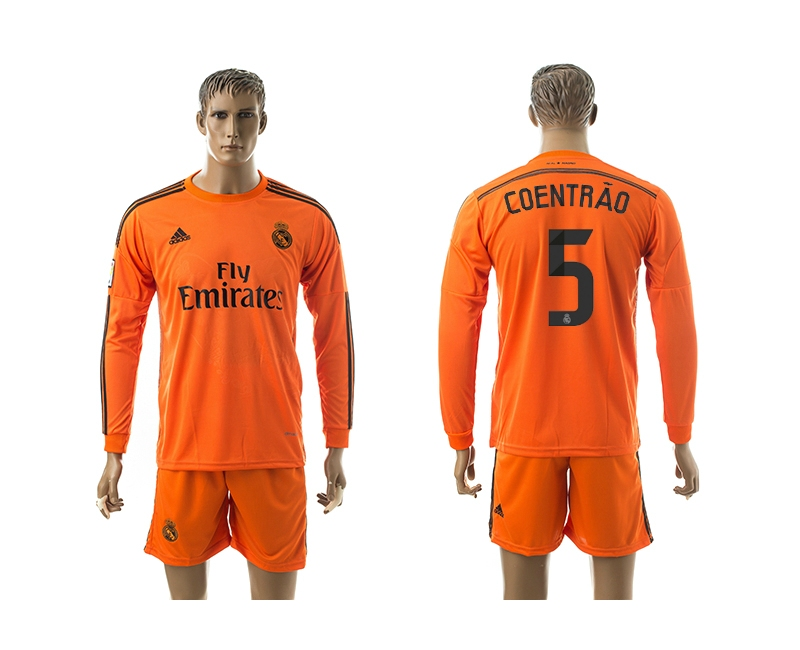 2014-15 Real Madrid 5 Coentrao Third Away Long Sleeve Jerseys