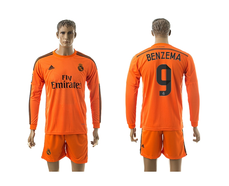 2014-15 Real Madrid 9 Benzema Third Away Long Sleeve Jerseys
