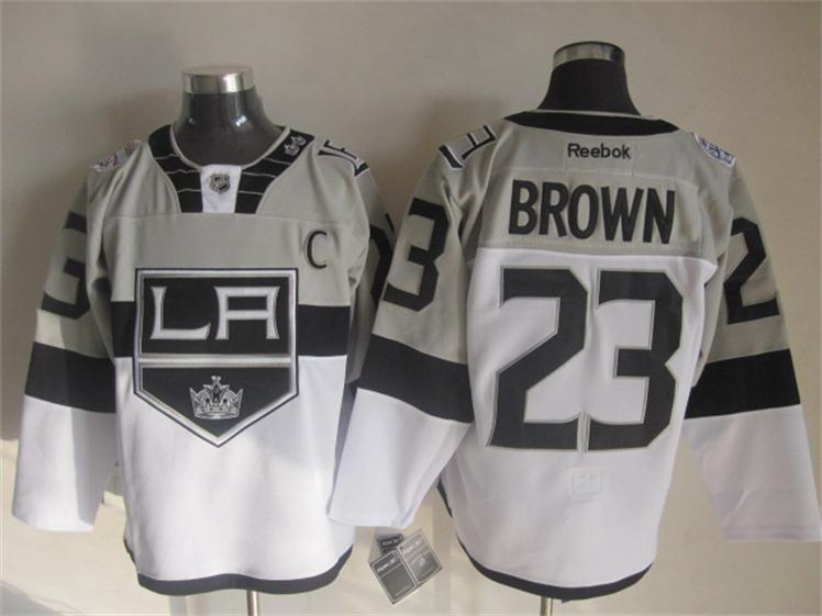 Kings 23 Brown Grey 2015 Stadium Series Jerseys