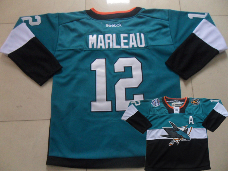 Sharks 12 Marleau Teal 2015 Stadium Series Jerseys