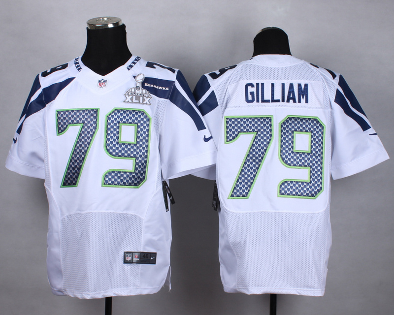 Nike Seahawks 79 Gilliam White 2015 Super Bowl XLIX Elite Jerseys