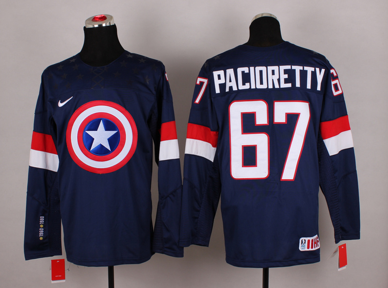 USA 67 Pacioretty Captain America Jersey