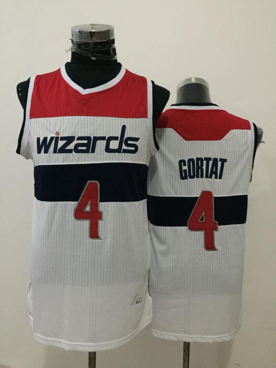 Wizards 4 Marcin Gortat White New Revolution 30 Jersey