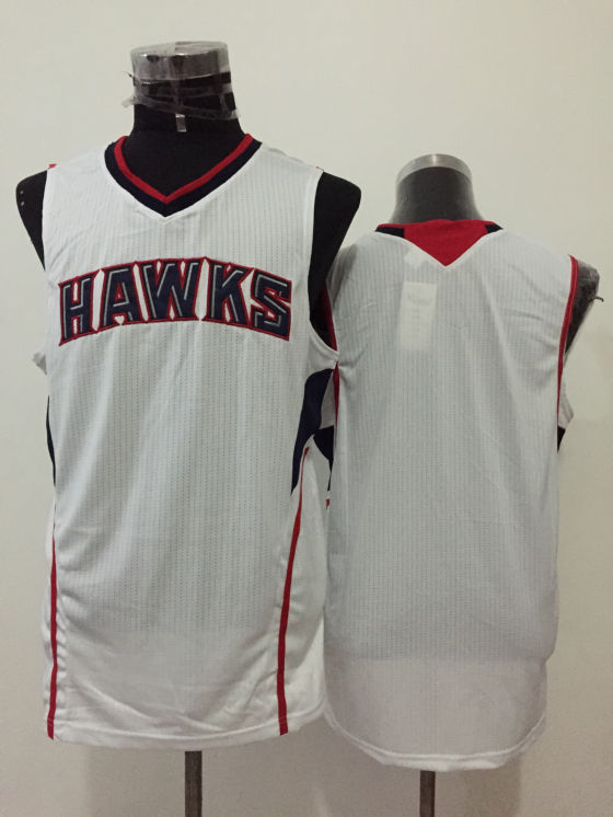 Hawks White New Revolution 30 Jersey