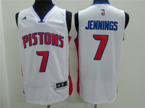 Pistons 7 Brandon Jennings White New Revolution 30 Jersey