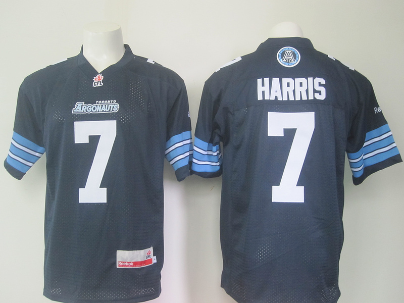 Reebok CFL Toronto Argonauts 7 Harris Blue Jersey