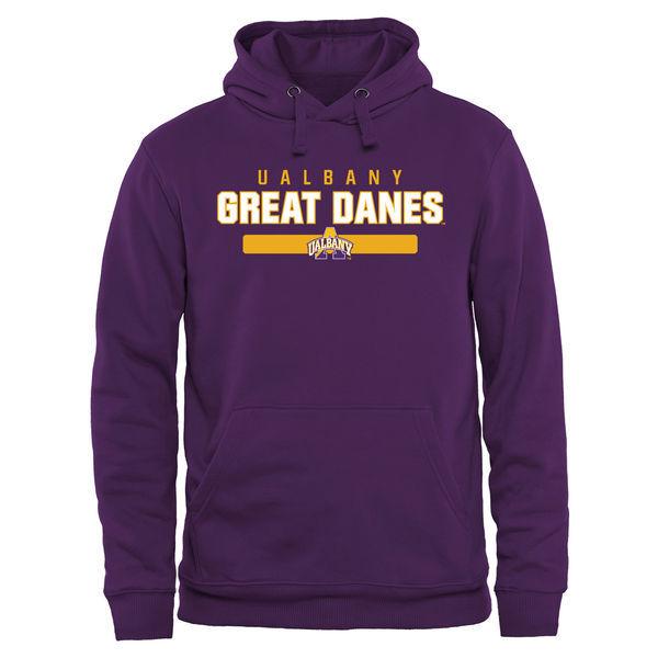 Albany Great Danes Team Logo Purple College Pullover Hoodie