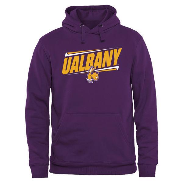 Albany Great Danes Team Logo Purple College Pullover Hoodie4