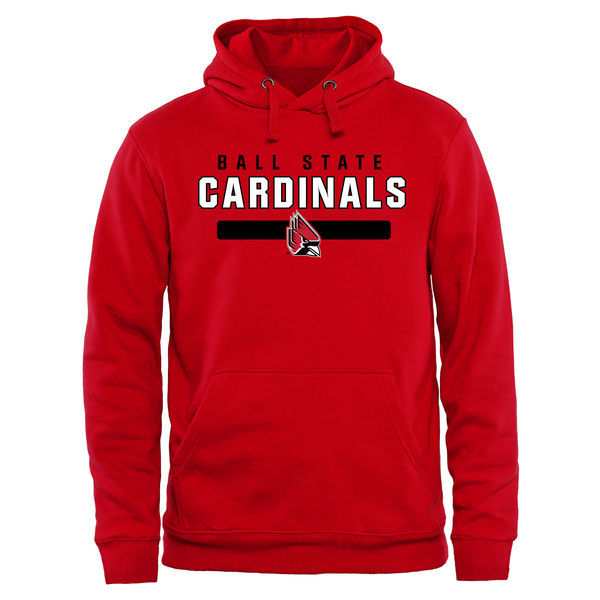 Ball State Cardinals Team Logo Red College Pullover Hoodie3