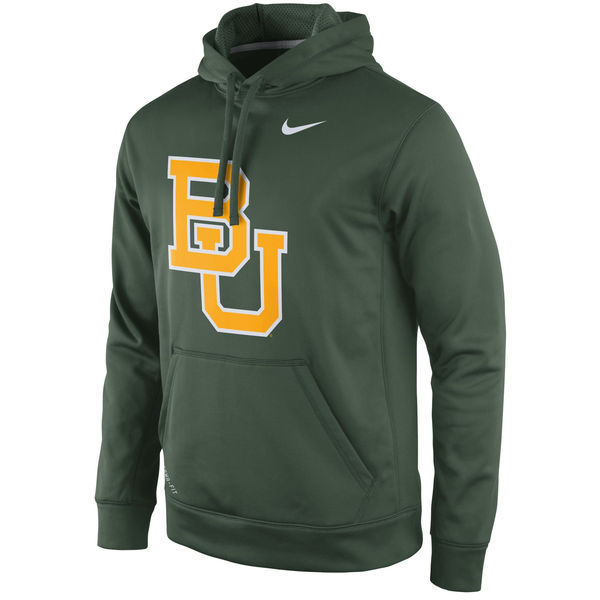 Baylor Bears Fresh Logo Green College Pullover Hoodie