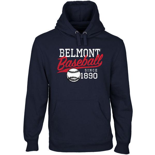 Belmont Bruins Team Logo Navy Blue College Pullover Hoodie4