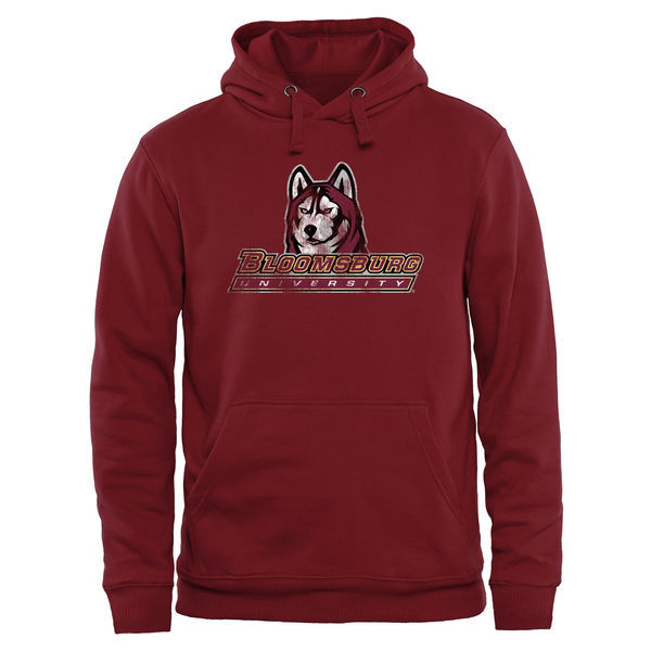 Bloomsburg Huskies Red Team Logo College Pullover Hoodie4