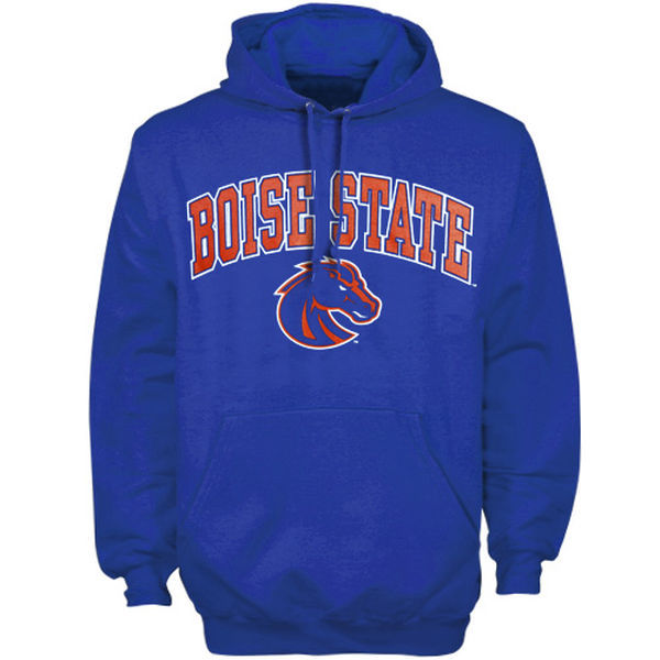 Boise State Broncos Team Logo Blue College Pullover Hoodie3