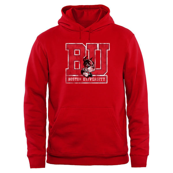 Boston University Terriers Team Logo College Pullover Hoodie