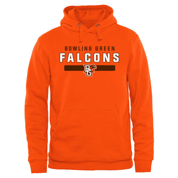 Bowling Green Falcons Team Logo Orange College Pullover Hoodie3