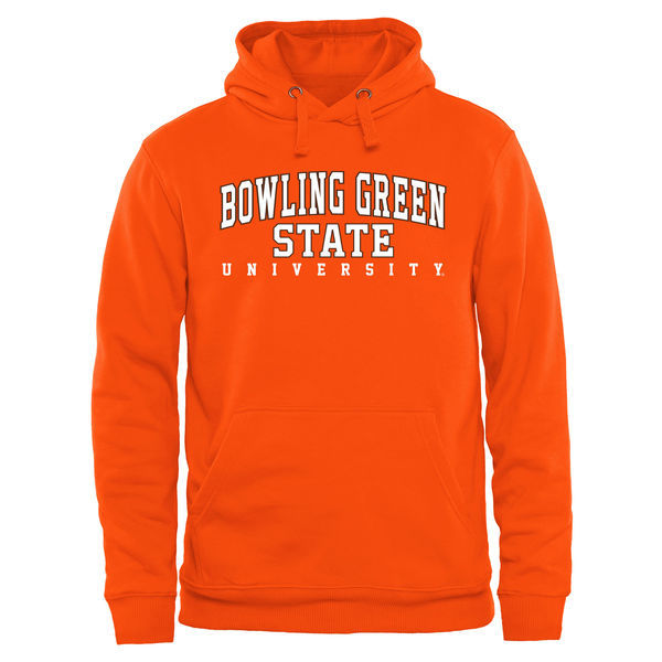 Bowling Green Falcons Team Logo Orange College Pullover Hoodie5
