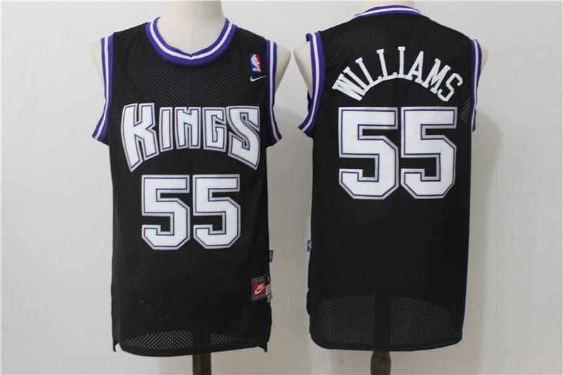 Kings 55 Jason Williams Black Nike Throwback Jersey