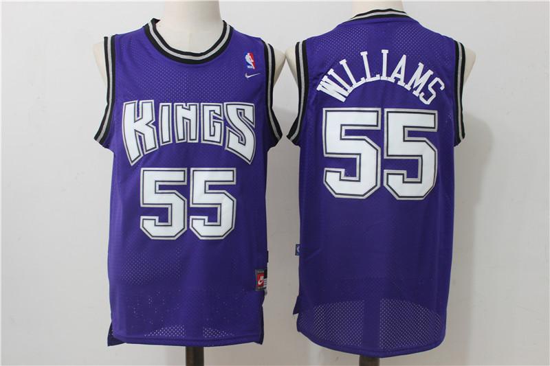 Kings 55 Jason Williams Purple Nike Throwback Jersey