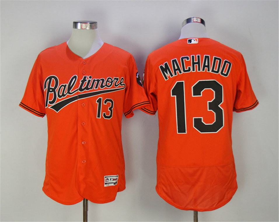 Orioles 13 Manny Machado Orange Youth Flexbase Jersey