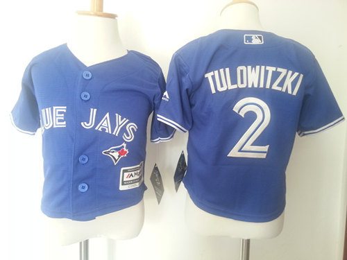 Blue Jays 2 Troy Tulowitzki Blue Toddler Cool Base Jersey