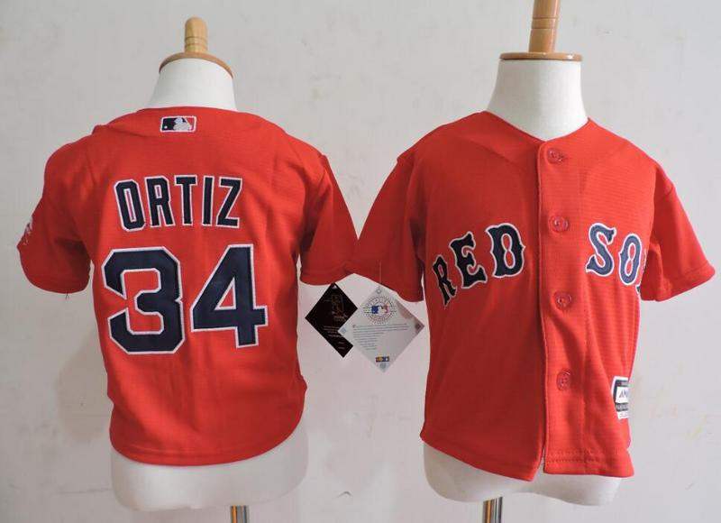 Red Sox 34 David Ortiz Red Toddler Cool Base Jersey