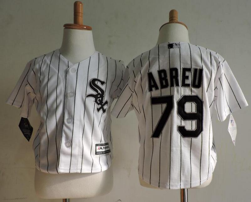 White Sox 79 Jose Abreu White Toddler Cool Base Jersey