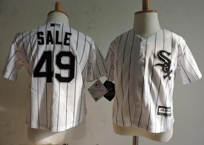 White Sox 49 Chris Sale White Toddler Cool Base Jersey