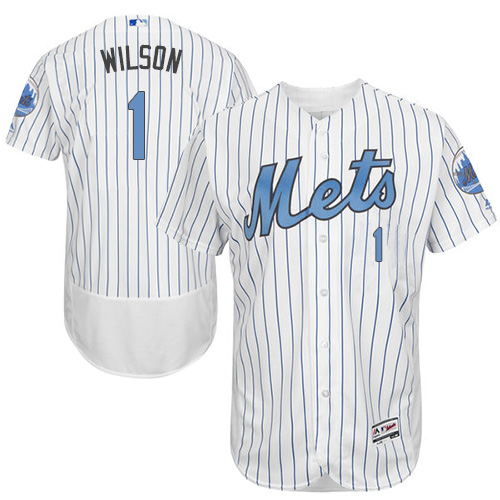 Mets 1 Mookie Wilson White Father's Day Flexbase Jersey