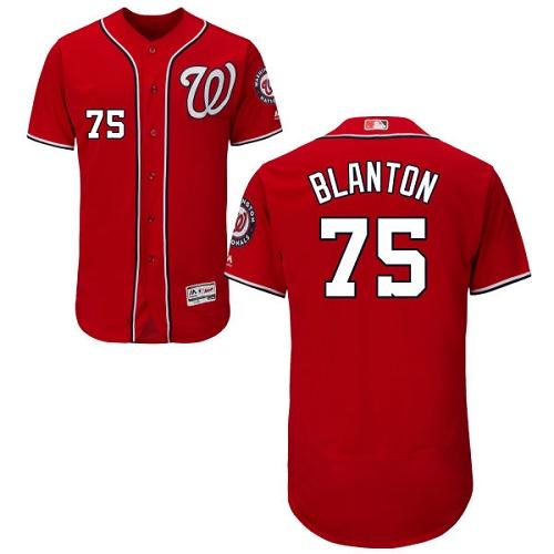 Nationals 75 Joe Blanton Red Flexbase Jersey